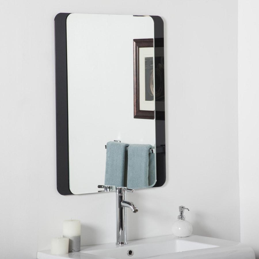 Decor Wonderland Skel 23.6-in x 31.5-in Black Rectangular Framed Bathroom Mirror
