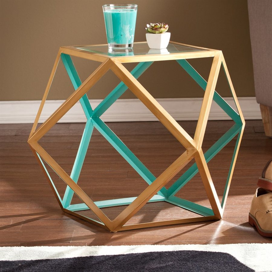 Boston Loft Furnishings Julie Blue/Champagne End Table