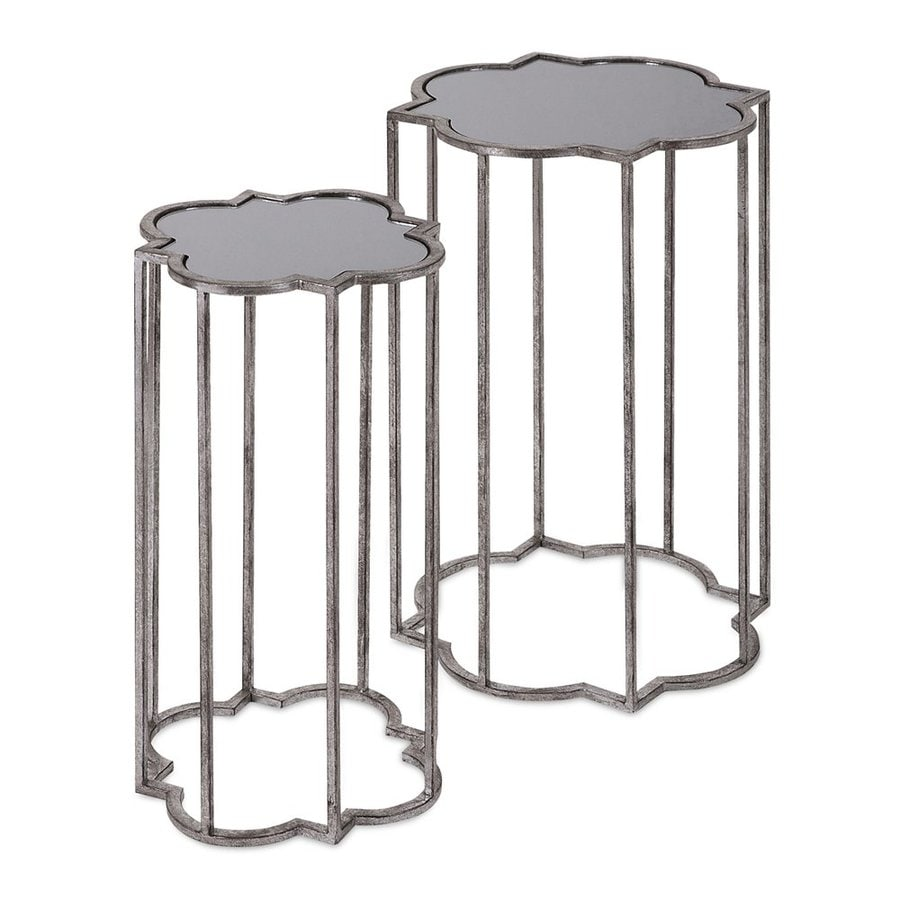 Imax Worldwide Acworth 2-Piece Silver Accent Table Set