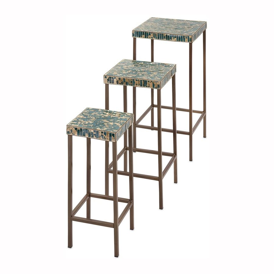 Imax Worldwide 3-Piece Mosaic Accent Table Set