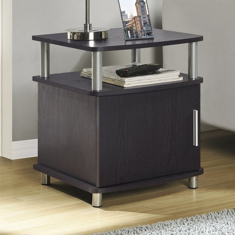 Ameriwood Home Carson Espresso Composite Modern End Table