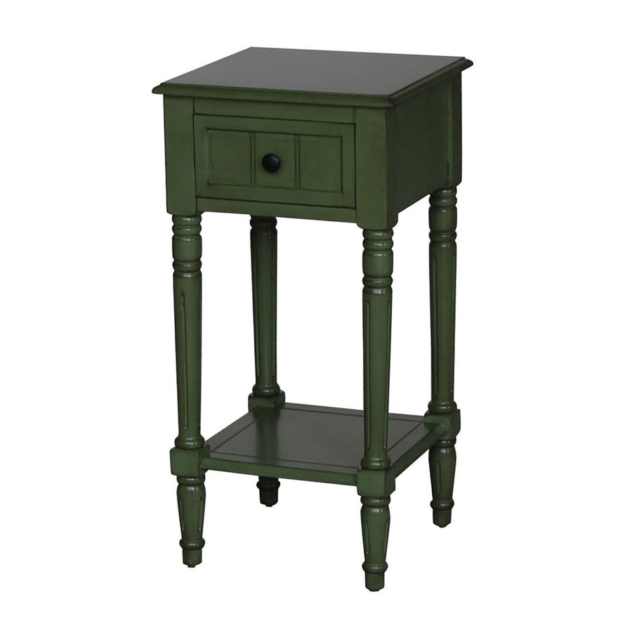 shop 4d concepts simple simplicity green end table at