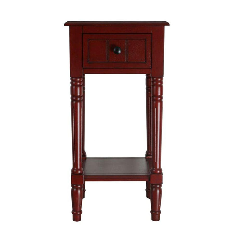 4D Concepts Simple Simplicity Red End Table