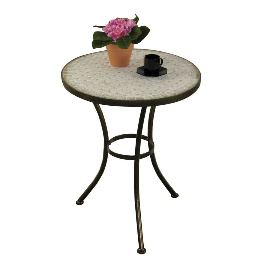 4D Concepts Antique Tuscany/Travertine End Table