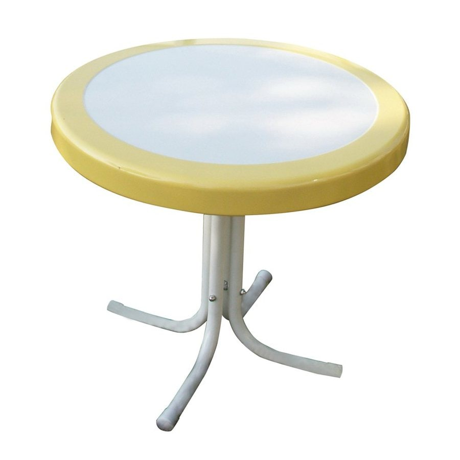 4D Concepts Yellow/White End Table