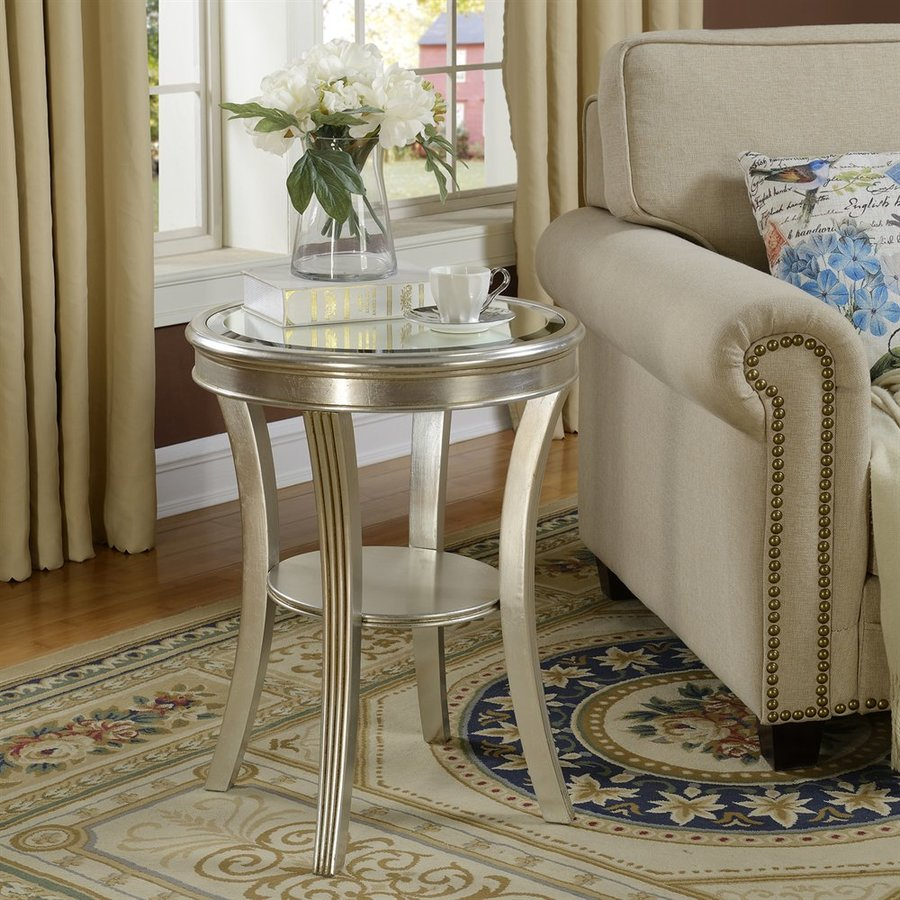 Coast to Coast Kenney Silver Leaf End Table