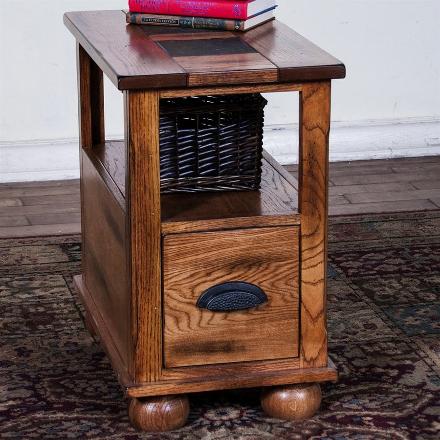 Attrayant Sunny Designs Sedona Rustic Oak Stone Rustic End Table