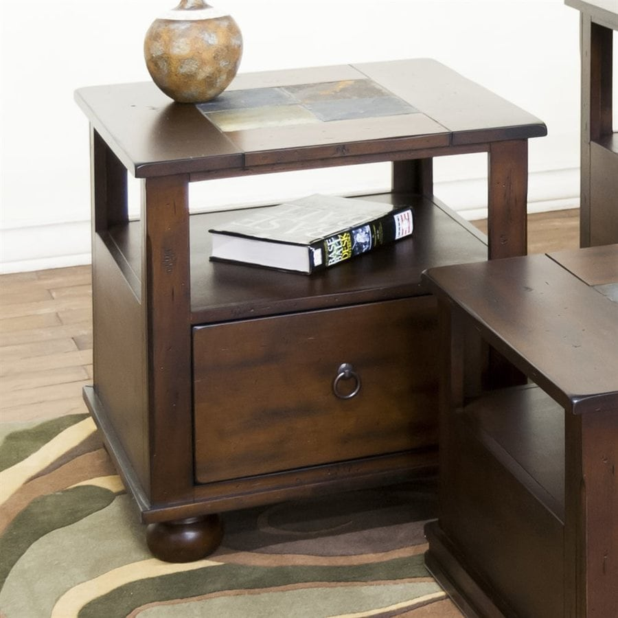 Sunny Designs Santa Fe Dark Chocolate Birch End Table