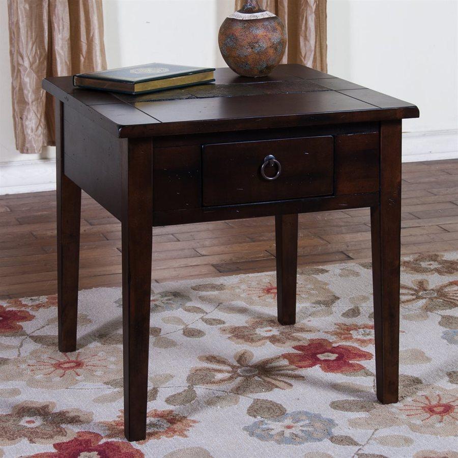 Sunny Designs Santa Fe Dark Chocolate Birch End Table