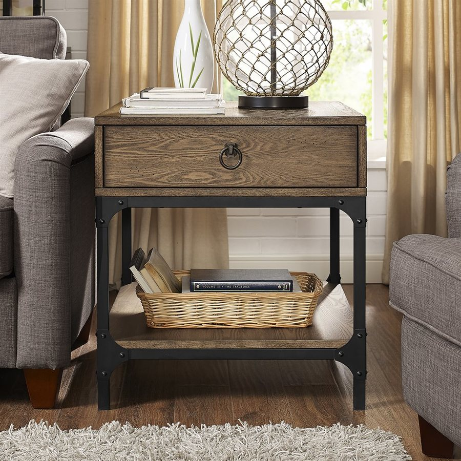 Coffee Tables And End Tables Sets Rustic End Tables: Crosley Furniture Trenton Rustic Coffee Wood Rustic End