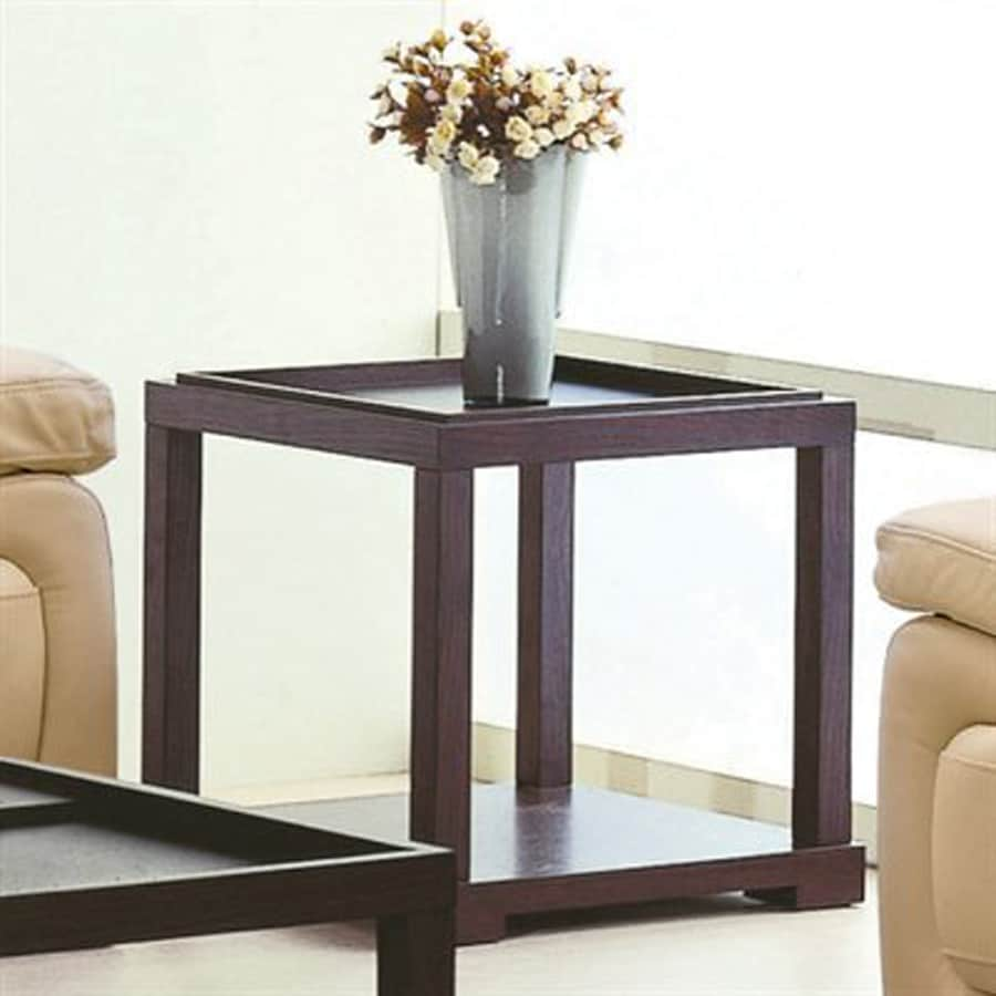 Beverly Hills Furniture Parson Oak End Table
