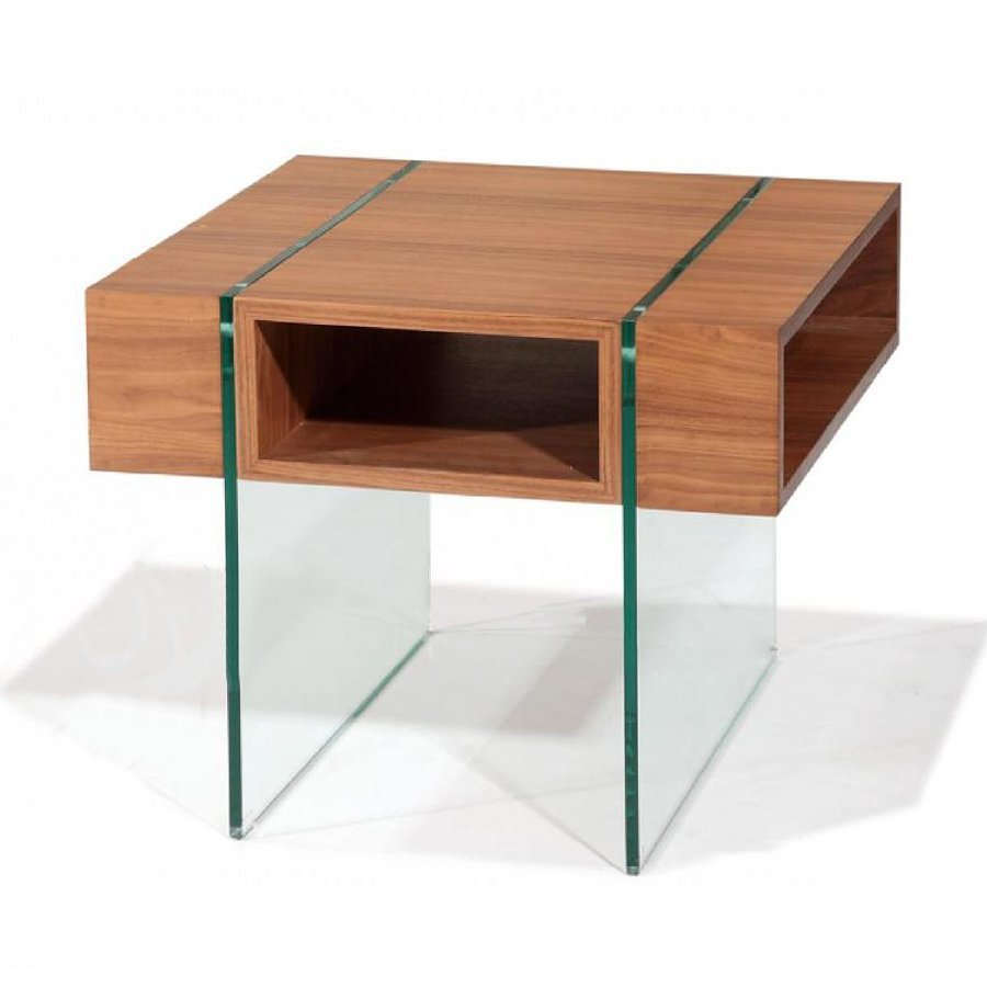 Beverly Hills Furniture Stilt Walnut End Table
