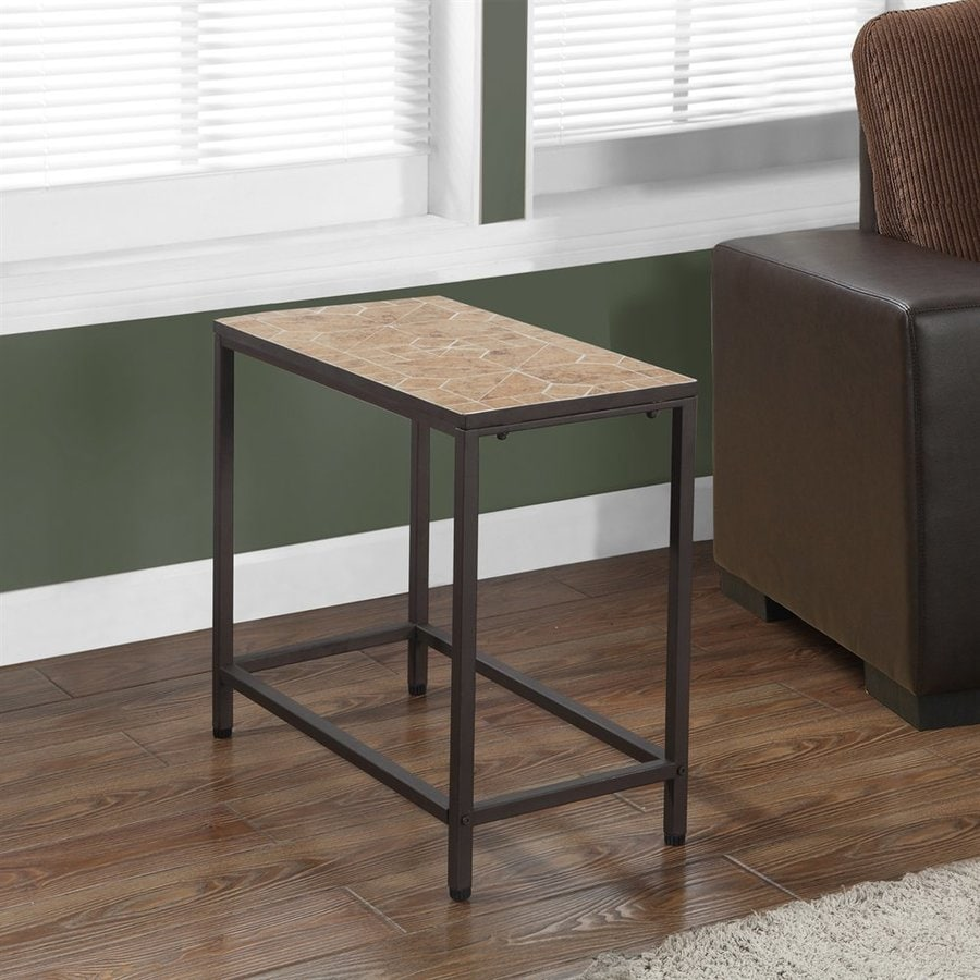Monarch Specialties Hammered Brown End Table