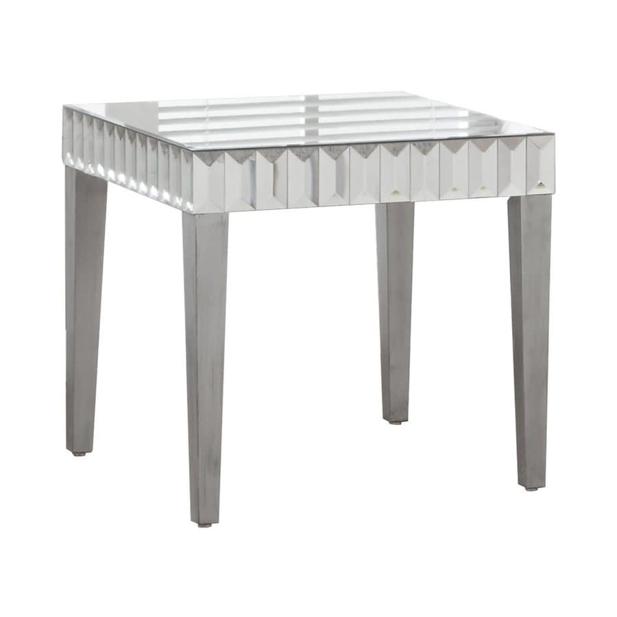 Monarch Specialties Brushed Silver End Table