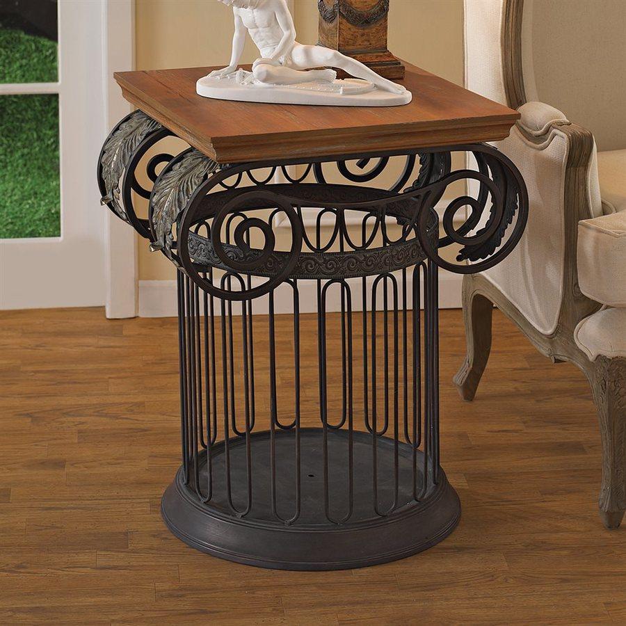 Design Toscano Gray End Table