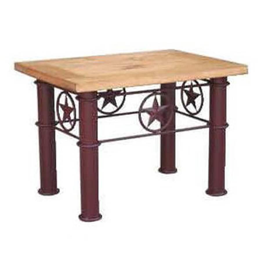 Million Dollar Rustic Texas Star Natural Pine End Table