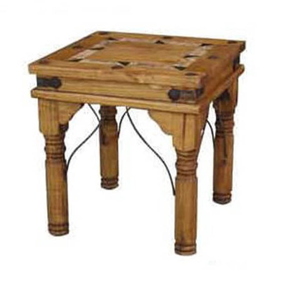 Shop Million Dollar Rustic Natural Wood Rustic End Table