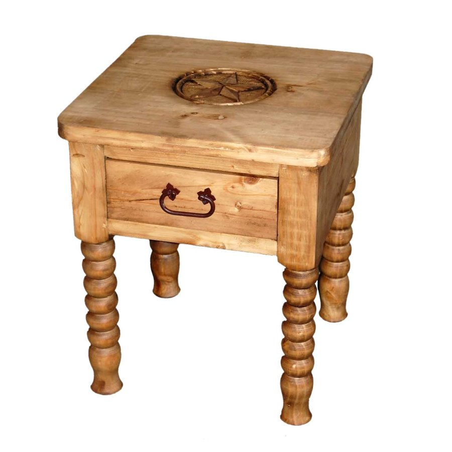 Million Dollar Rustic Natural Pine End Table