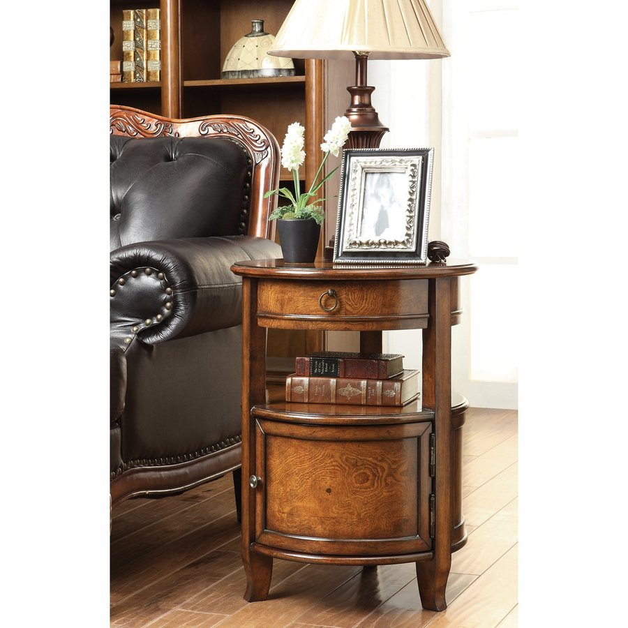 Coast to Coast Greenlee Mid Brown Poplar End Table