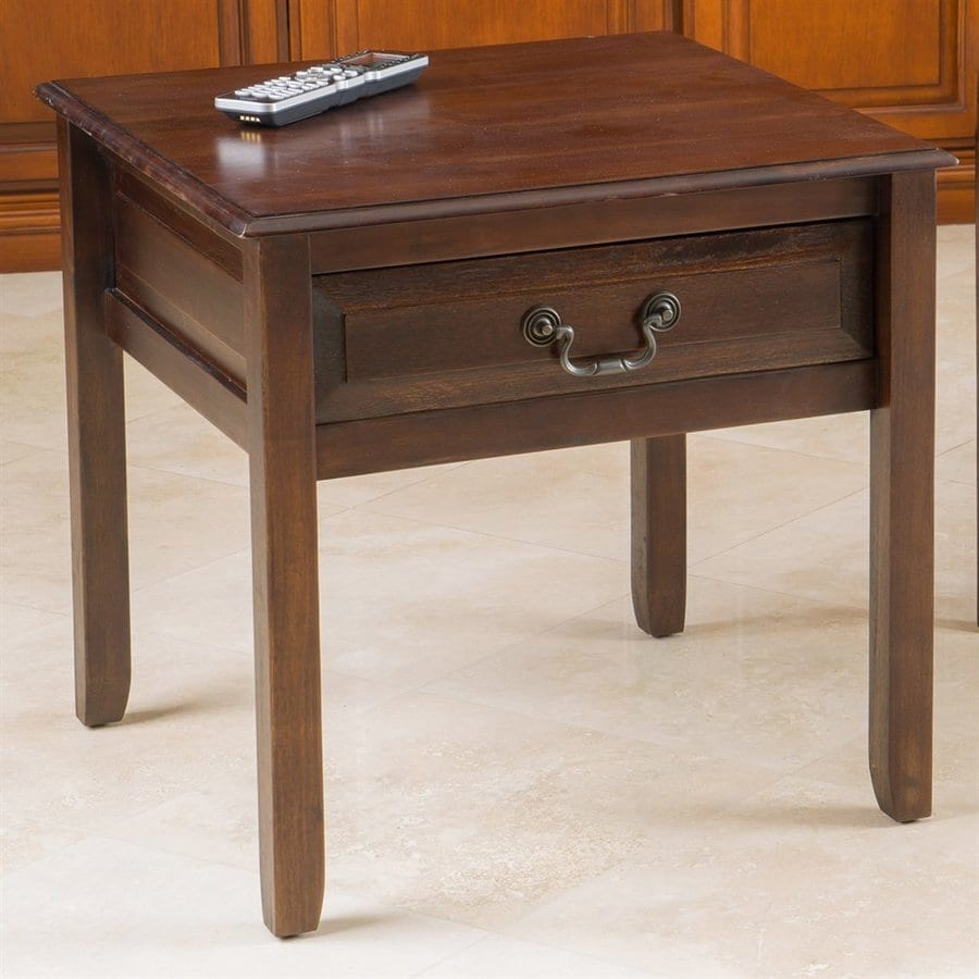 Best Selling Home Decor Delano Brown Mahogany Acacia End Table