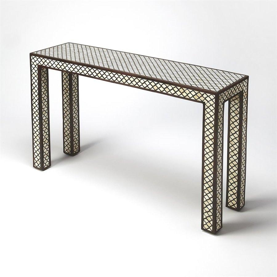 Butler Specialty Cosmopolitan Wood/Bone Inlay Console Table