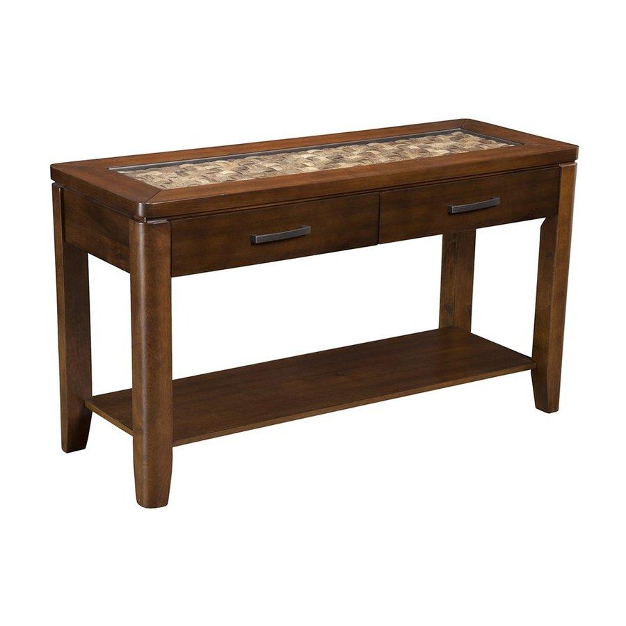 Alpine Furniture Granada Brown Merlot Acacia Sofa Table