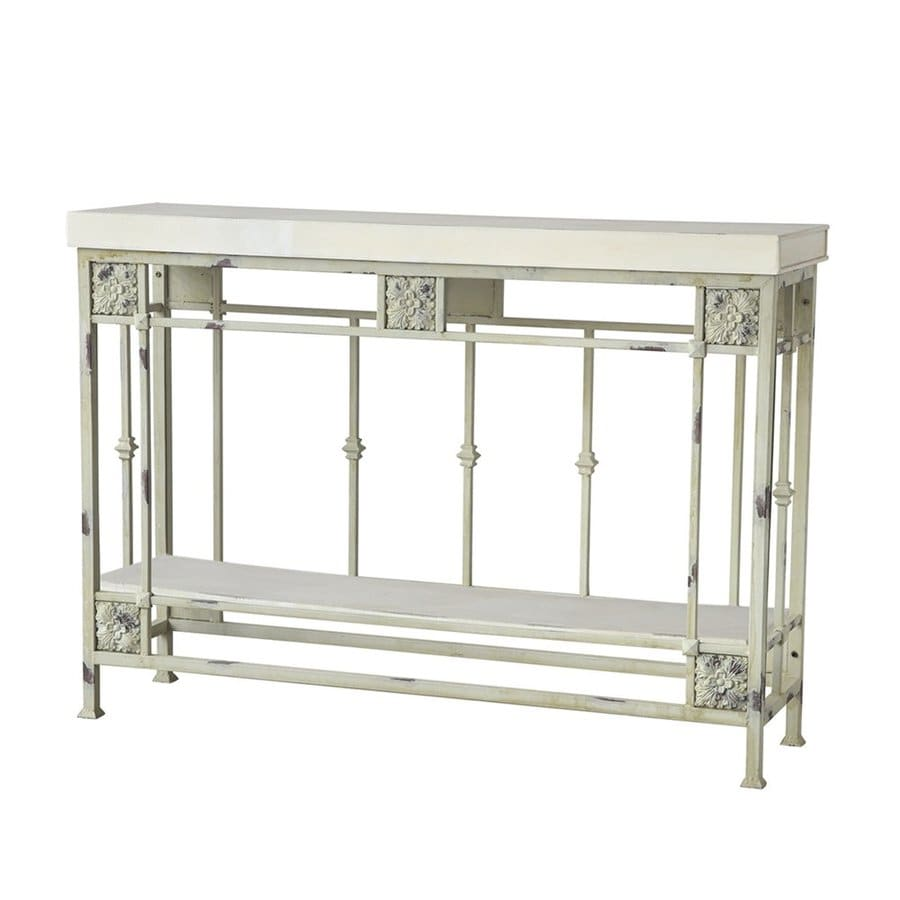A&B Home White Console Table