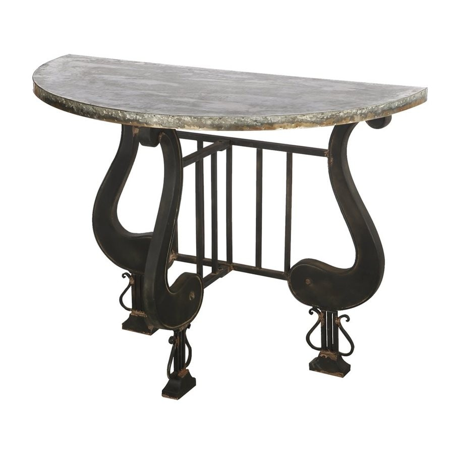 A&B Home French Chic Garden Marguerite Gray Console Table