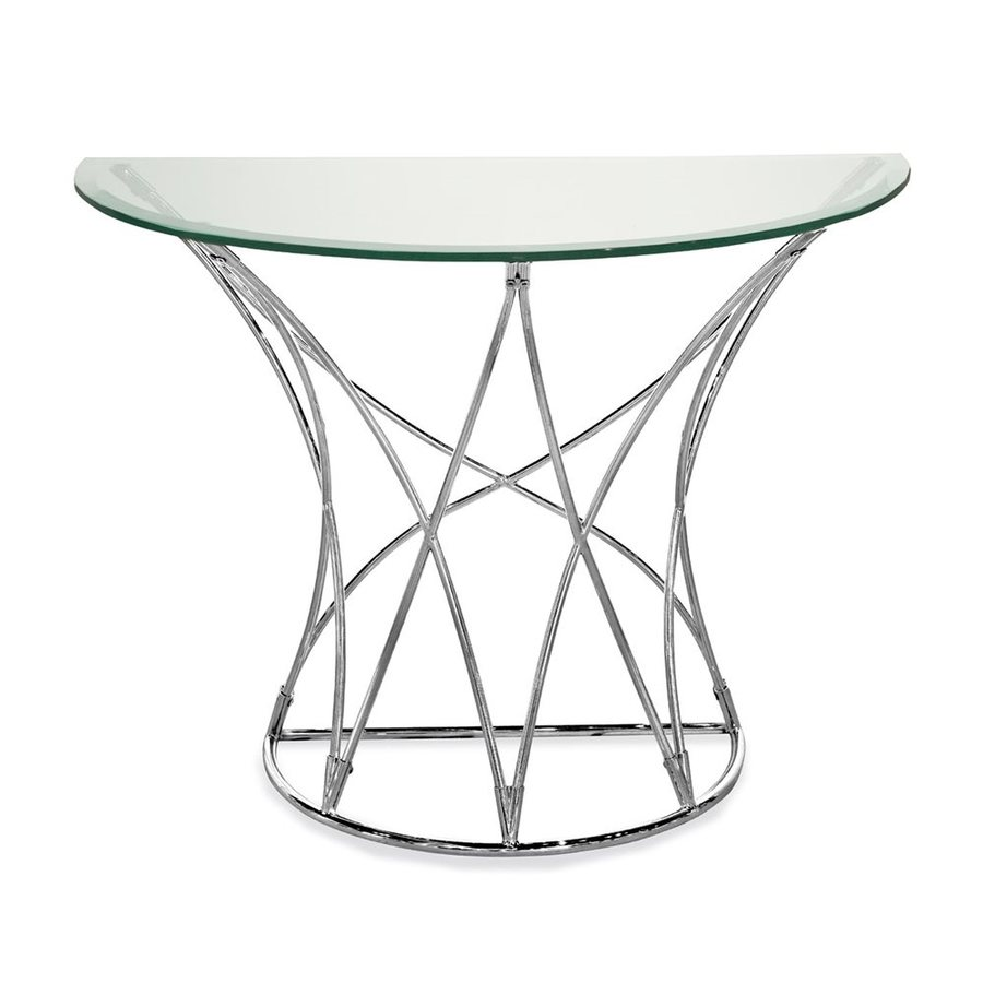 Bassett Mirror Company Thoroughly Modern Mercer Clear Console Table