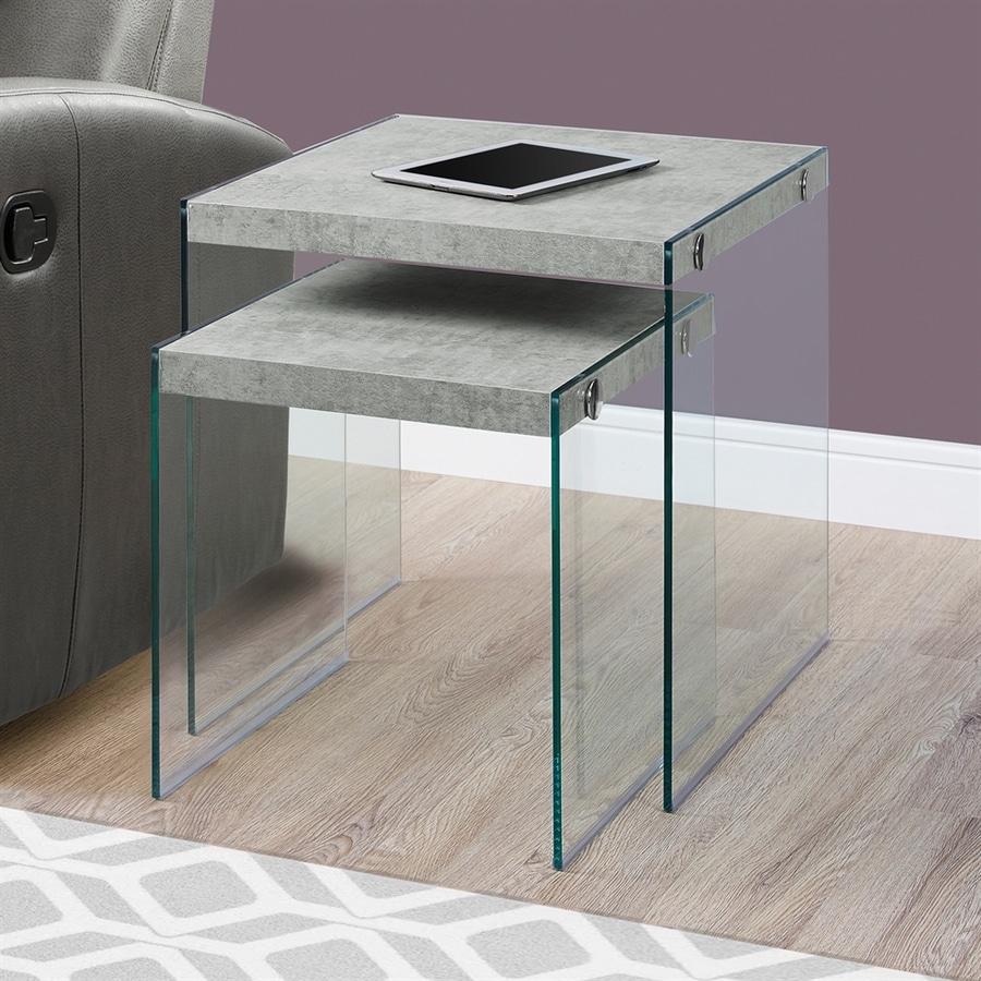 monarch specialties piece gray accent table set. shop monarch specialties piece gray accent table set at lowescom