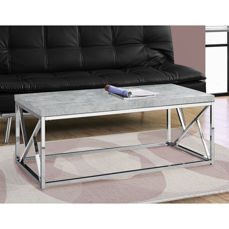 Monarch Specialties Cement Stone Coffee Table
