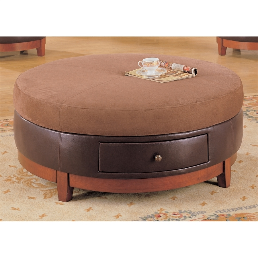 Monarch Specialties Brown Rubber Round Coffee Table