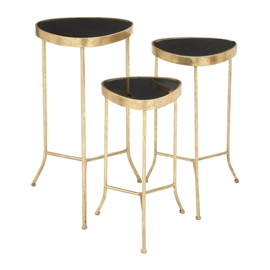 Woodland Imports 3-Piece Black Accent Table Set