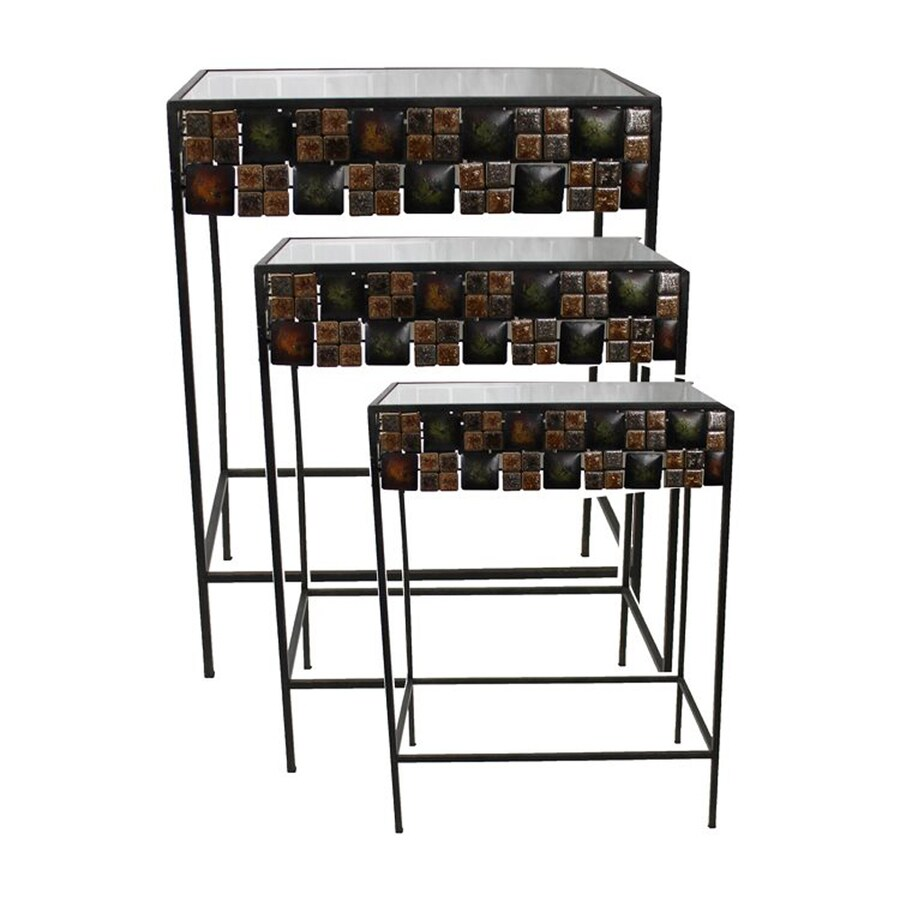 Woodland Imports 3-Piece Accent Table Set