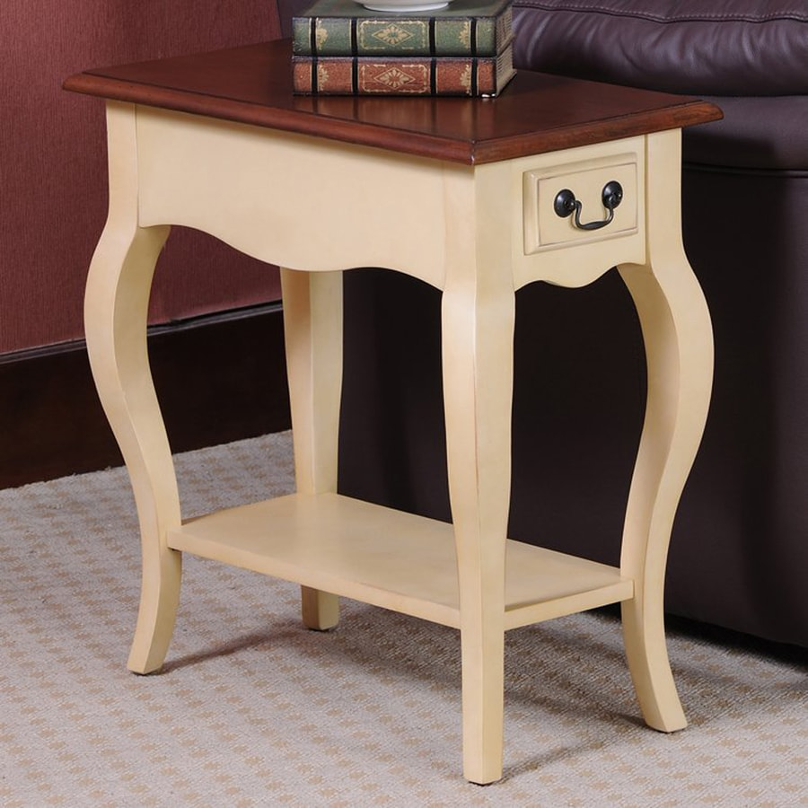 Leick Favorite Finds Ivory Poplar End Table