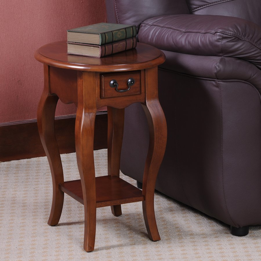 Leick Favorite Finds Brown Cherry Poplar End Table