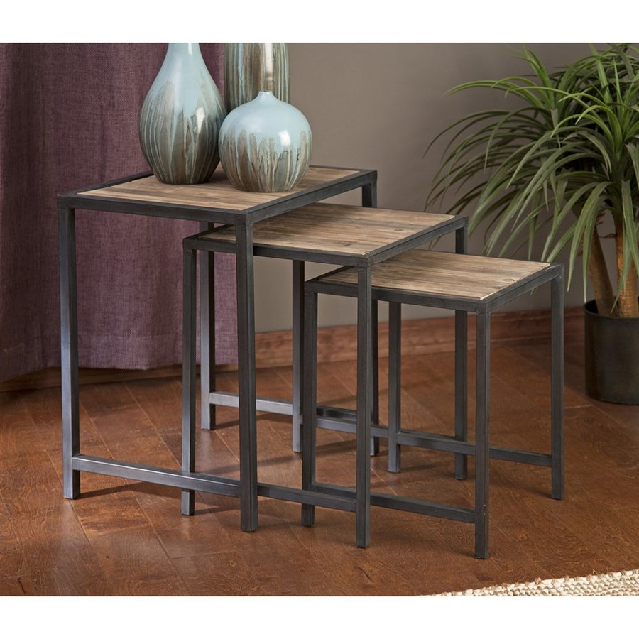 Shop Imax Worldwide Groveport 3-Piece Fir Accent Table Set at Lowes.com