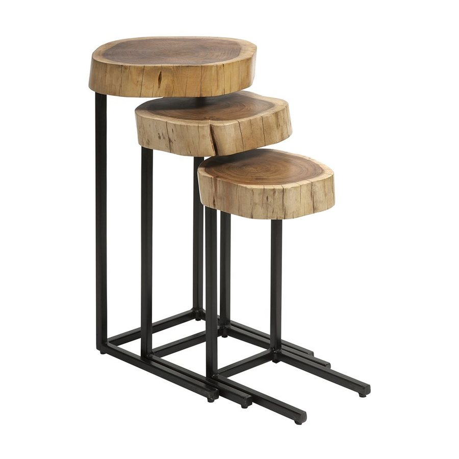 Imax Worldwide Nadera 3-Piece Wood Accent Table Set