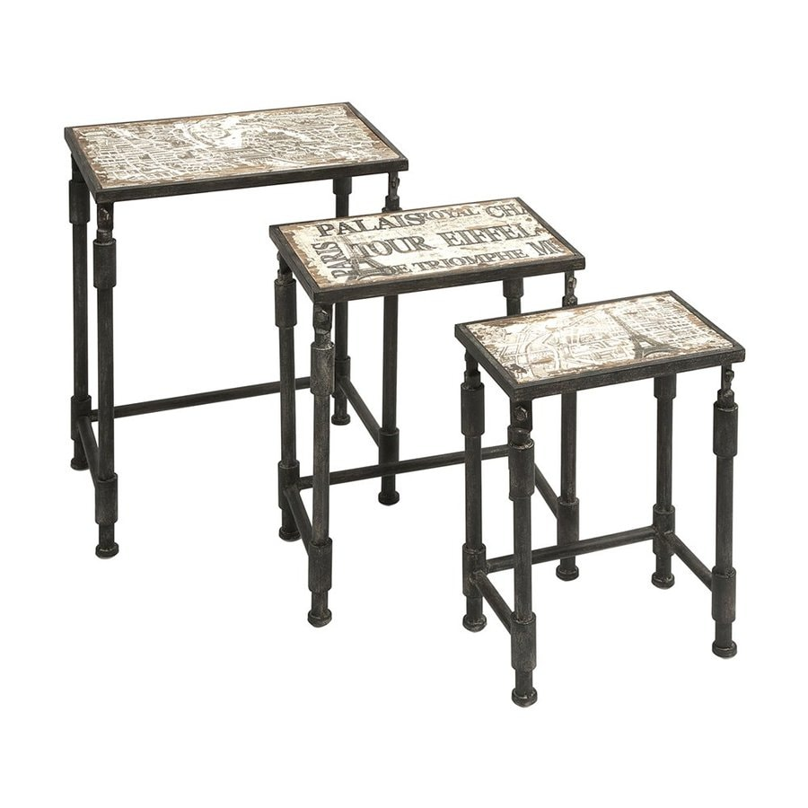 Imax Worldwide Knoxlin 3-Piece French Design Fir Accent Table Set