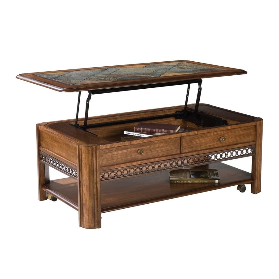 Shop Magnussen Home Madison Warm Nutmeg Slate Coffee Table At