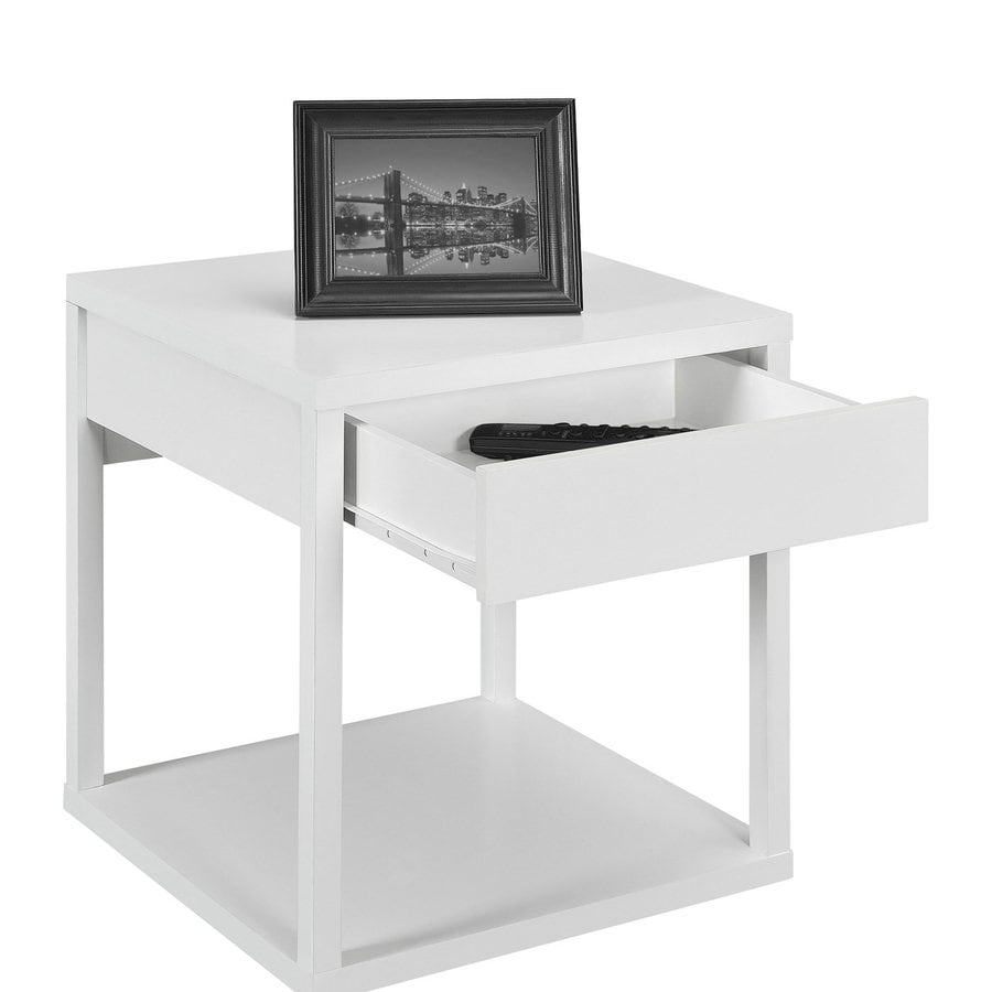 Ameriwood Home White End Table