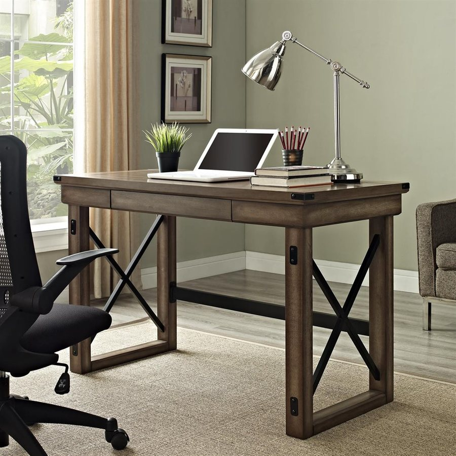 office writing table. Ameriwood Home Wildwood Transitional Rustic Gray Writing Desk Office Table R