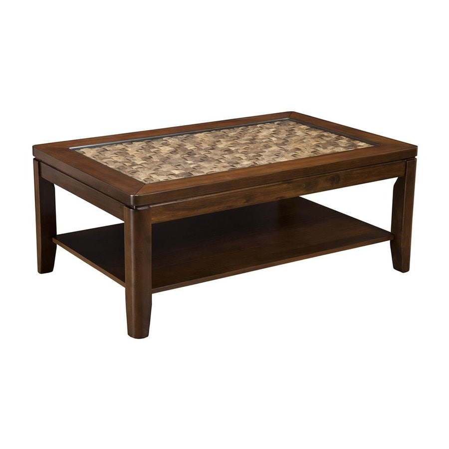 Shop Alpine Furniture Granada Brown Merlot Acacia Coffee Table At