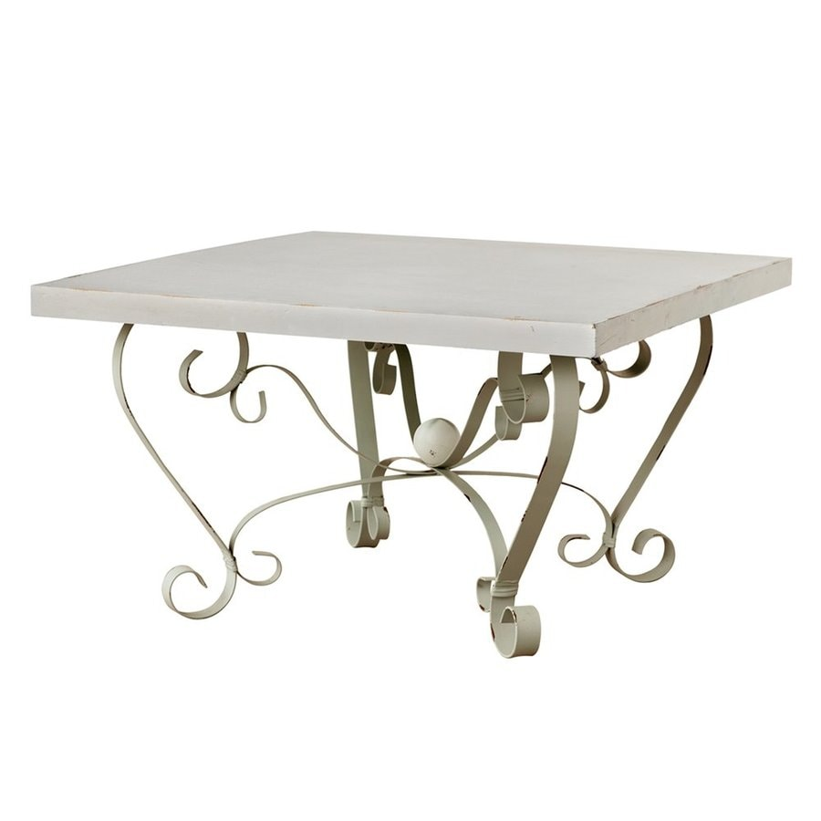 shop a&b home antique white coffee table at lowes