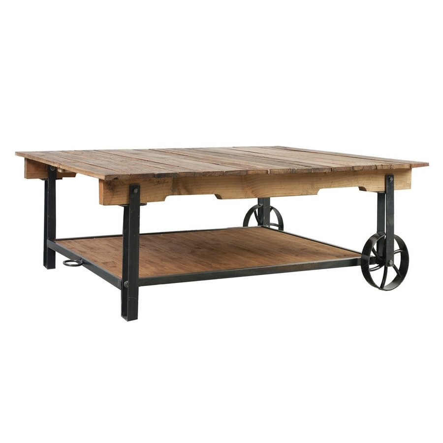 A&B Home Distressed Brown Coffee Table