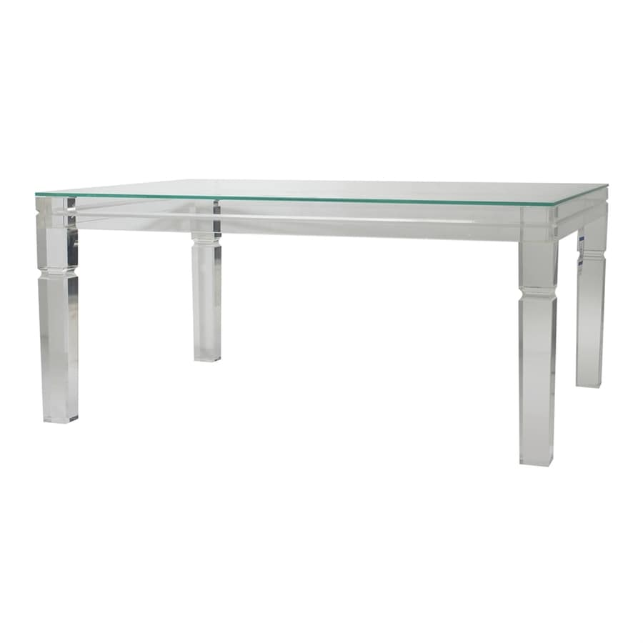 A&B Home Diaphan Glass Coffee Table At Lowes.com