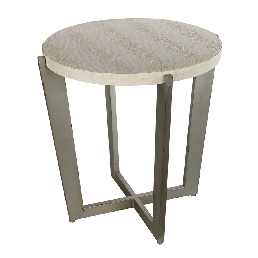 A&B Home Carnevali Design Distressed Metal End Table