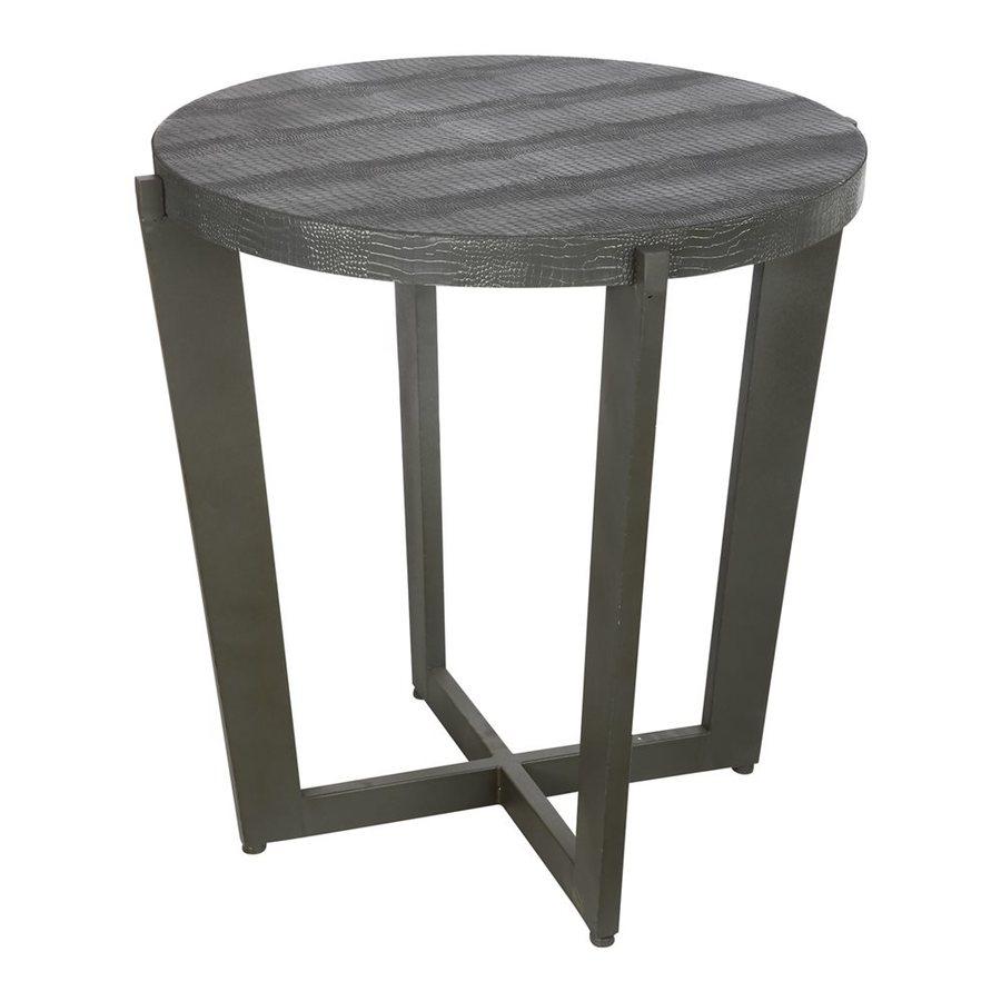 A&B Home Carnevali Design Dark distressed Metal End Table