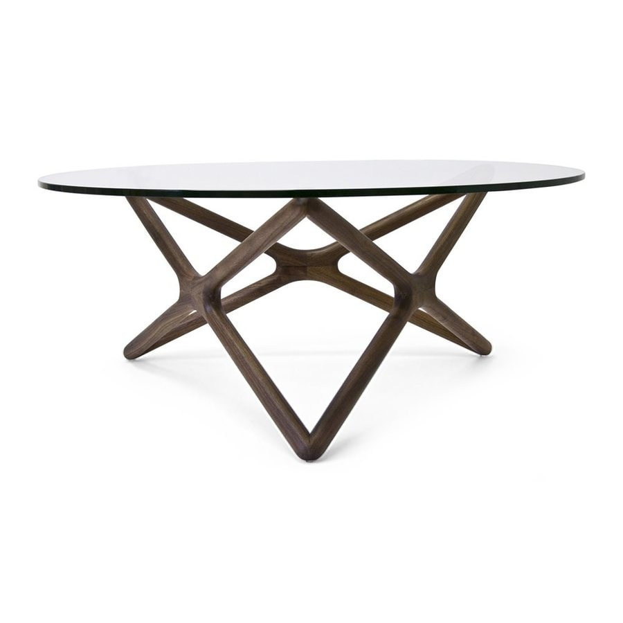Shop AEON Furniture Starlight Glass Round Coffee Table at Lowescom