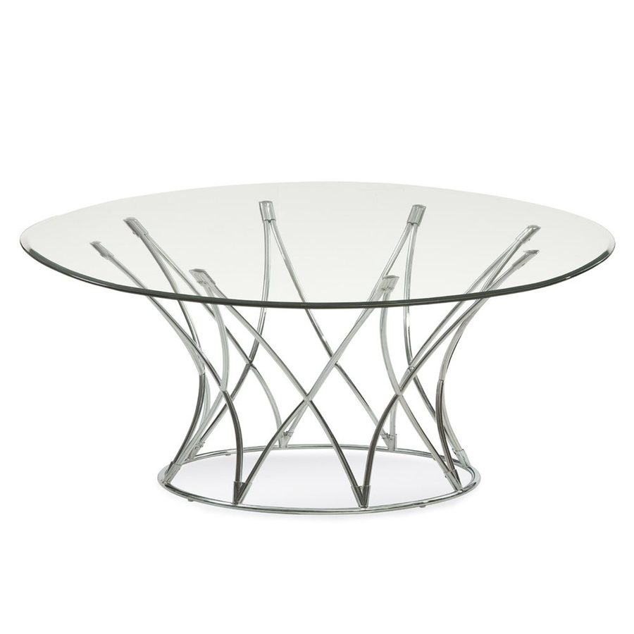 Bassett Mirror Company Mercer Glass Round Coffee Table